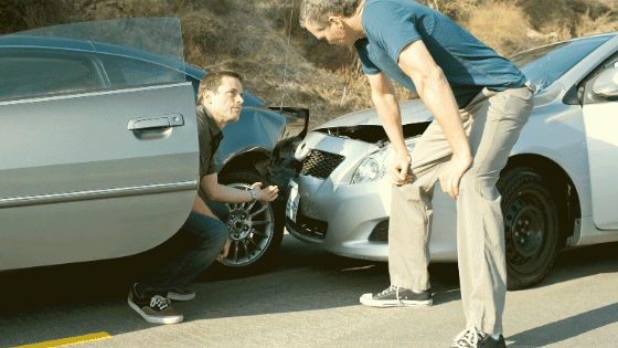 car accident without insurance not your fault