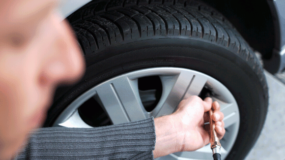 Check tire air pressure